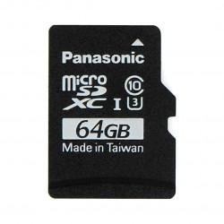 Karta pamięci Panasonic microSD 64GB 40MB/s klasa A1 (bez adaptera) + system Raspbian dla Raspberry Pi 4B/3B+/3B/2B/Zero