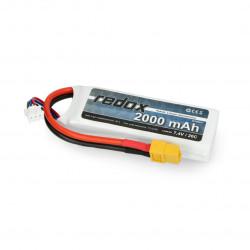 Pakiet Li-Pol Redox 2000mAh 20C 2S 7,4V - XT-60