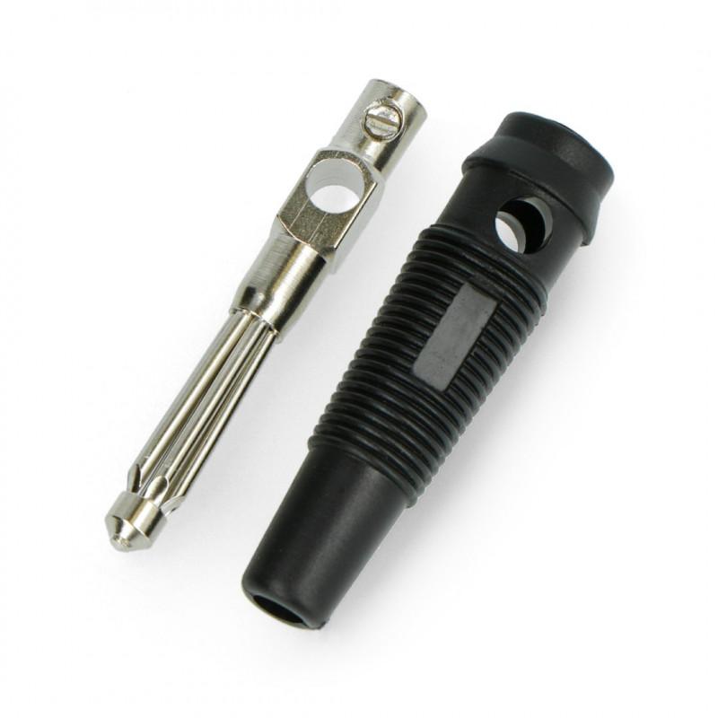 Banana plug with AL2311A socket - black*