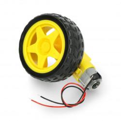 Koło + silnik 65x26mm 5V z przekładnią 48:1 + przewody