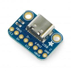 Adafruit moduł z gniazdem USB typu C - złącze do płytki stykowej