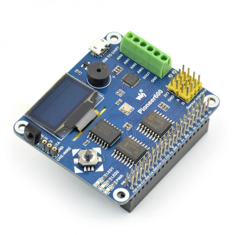 Pioneer600 - ekran OLED 0,96'' + akcesoria do Raspberry Pi 2/B+/A+ - Waveshare 11179