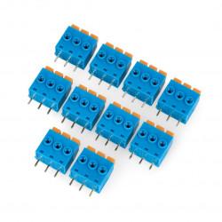 Złącze ARK raster 5 mm 3 pin - samozaciskowe