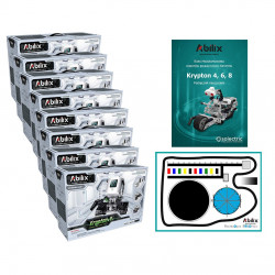 Set of programming lab - Abilix Krypton 4 + mat + lessons scenarios - for 16 students
