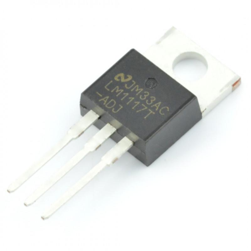 Linear voltage regulator LDO ADJ LM1117T - THT TO220