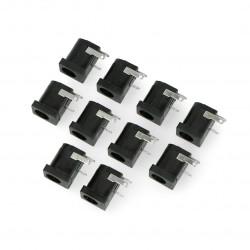 Gniazdo DC 5.5 x 2.1 mm do druku - poziome