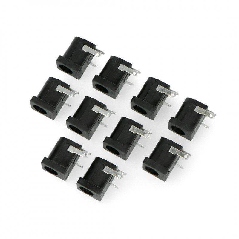 Gniazdo DC 5.5 x 2.1 mm do druku - poziome - 10 szt.