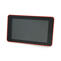 "Case for Raspberry Pi 4B and Touchscreen 7"" - red"
