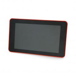 """Obudowa do Raspberry Pi 4B i ekranu dotykowego 7"""" - czerwona"""