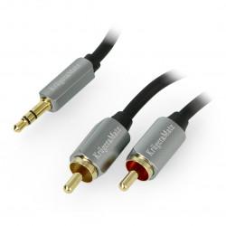 Kruger&Matz cable Jack 3,5mm - 2x RCA black - 1m