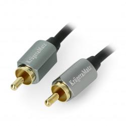 Kruger&Matz cable RCA - RCA black - 1,8m
