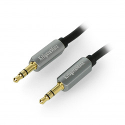 Kruger&Matz cable Jack 3,5mm stereo black - 1,8m