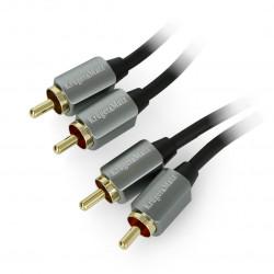 Kruger&Matz cable 2x RCA - 2x RCA black - 1,8m