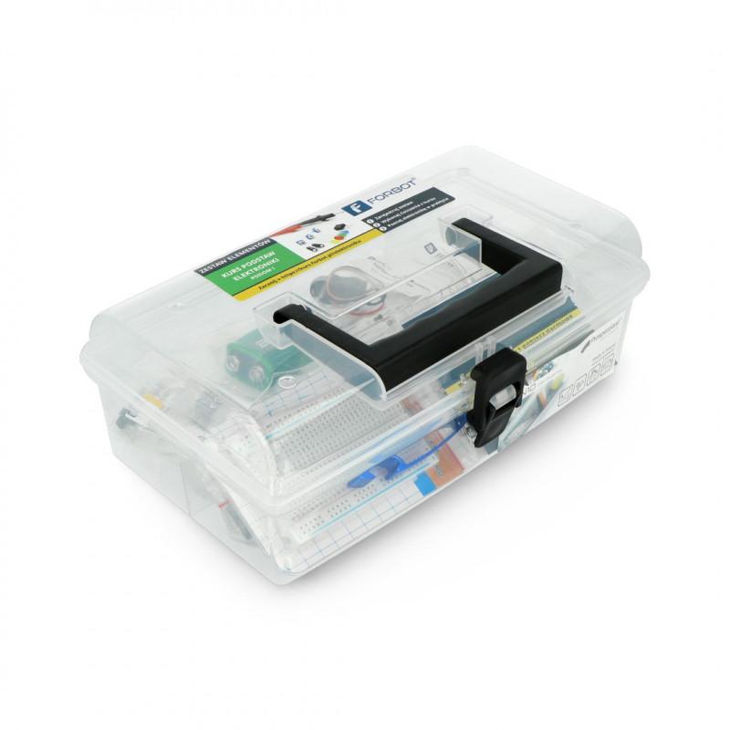 FORBOT - zestaw do kursu podstaw elektroniki + gadżety i Box (wersja PLUS)