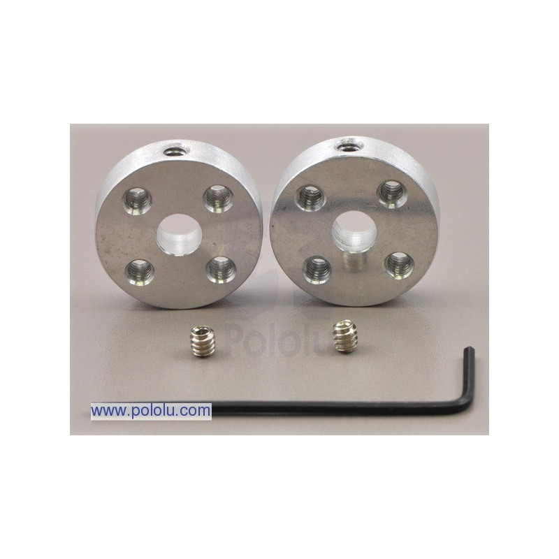 Aluminum mounting hub 5mm 4-40 - 2pcs