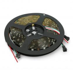 RGB LED Strip WS2812B - digital, addressed - IP65 30 LED / m, 9W / m, 5V - 5m - black