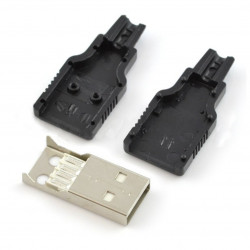 USB plug type a on the cord plastic