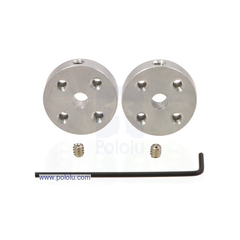 Aluminum mounting hub 4mm 4-40 - 2pcs