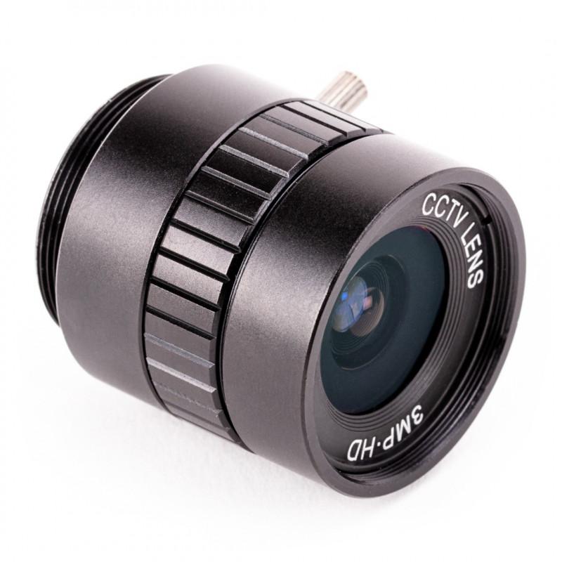 Obiektyw PT361060M3MP12 CS mount - szerokokątny 6mm - do kamery Raspberry Pi