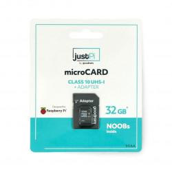 Memory card Raspberry Pi micro SD / SDHC + system NOOBs