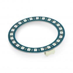 Grove - pierścień LED RGB WS2813 x 24 diody - 35mm - Seeedstudio 104020168
