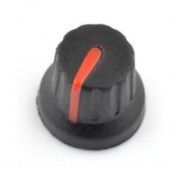 Gałka potencjometru GC16 czerwona - 16mm
