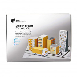 Bare Conductive Electric Paint Circuit Kit - a luminous model of the city
