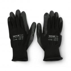 Rękawice robocze Yato rozmiar 10 nylonowe - czarne
