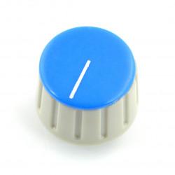 Gałka potencjometru GS18 szaro-niebieska - 18mm