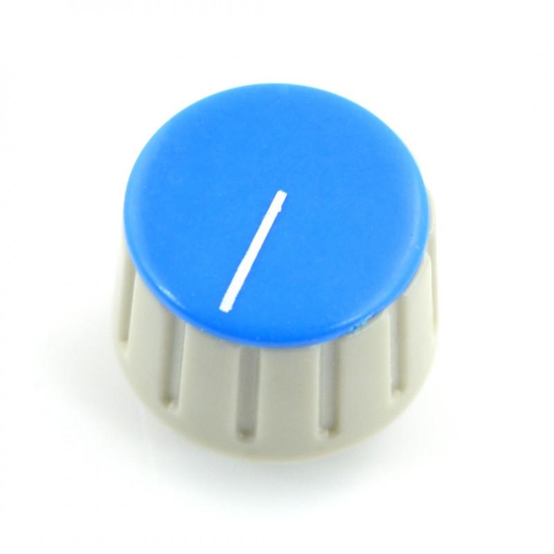 Gałka potencjometru GS18 szaro-niebieska - 6/18mm