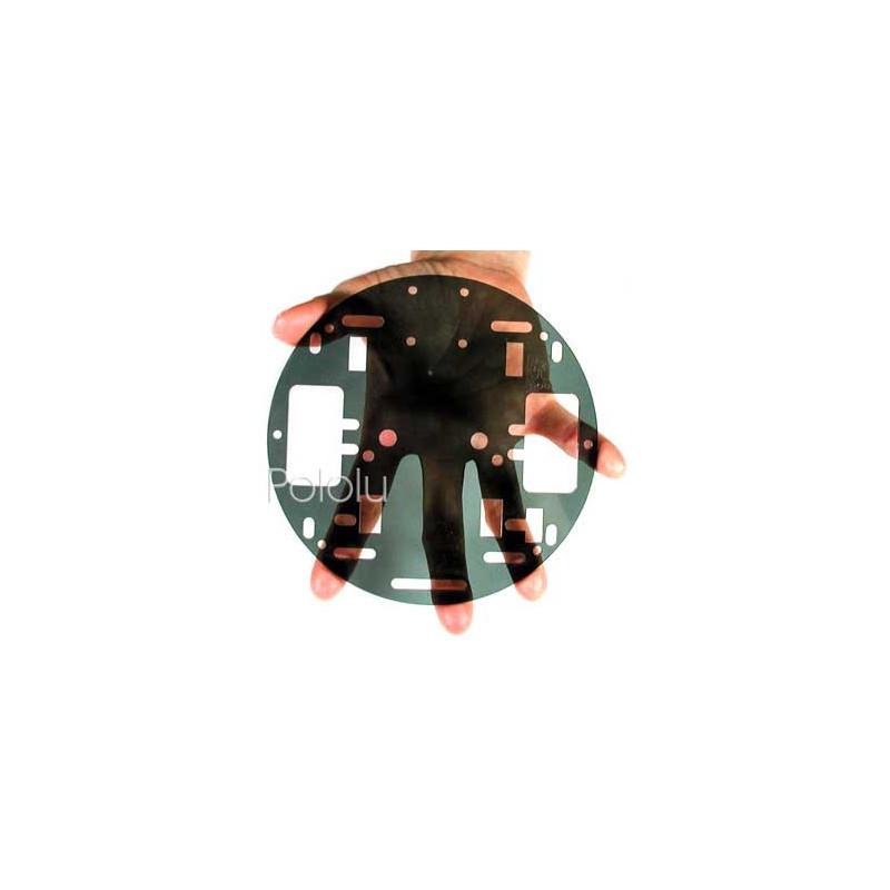 Pololu RRC04A 5'' 2-kołowe podwozie - przeźroczyste szare