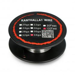 Drut oporowy Kanthal A1 0,16mm 56Ω/m - 30,5m