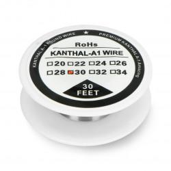 Drut oporowy Kanthal A1 0,25mm 23,3Ω/m - 9,1m