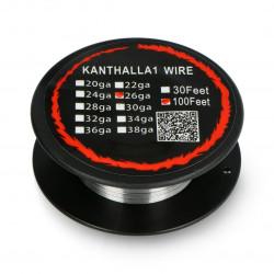 Drut oporowy Kanthal A1 0,40mm 12Ω/m - 30,5m