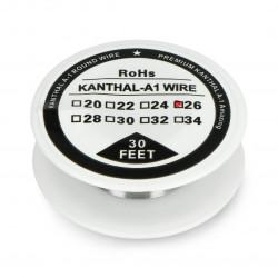 Drut oporowy Kanthal A1 0,40mm 12Ω/m - 9,1m