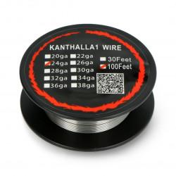 Drut oporowy Kanthal A1 0,51mm 6Ω/m - 30,5m