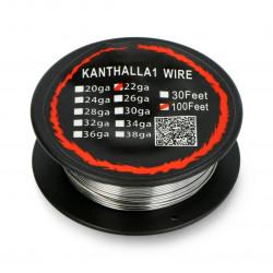 Drut oporowy Kanthal A1 0,64mm 4,9Ω/m - 30,5m