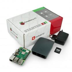 Zestaw Raspberry Pi 3 model B+ WiFi - Official - z obudową grafitową