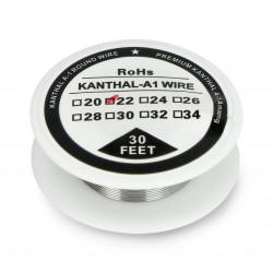 Drut oporowy Kanthal A1 0,64mm 4,9Ω/m - 9,1m