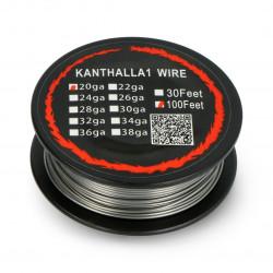Drut oporowy Kanthal A1 0,81mm 2,85Ω/m - 30,5m