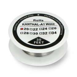 Drut oporowy Kanthal A1 0,81mm 2,85Ω/m - 9,1m
