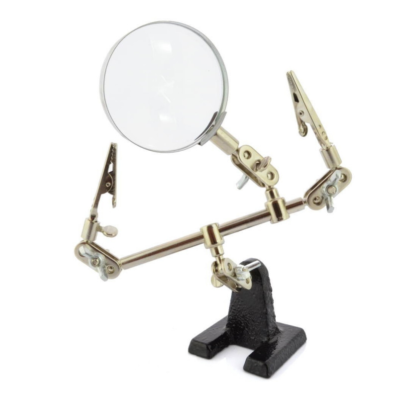 Helping hand ZD10D - handle with magnifying glass - Vorel 73500