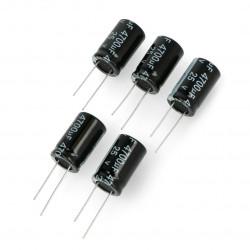 Kondensator elektroniczny 4700uF/25V 16x25mm 105C THT - 5szt.