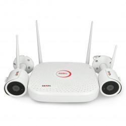 Zestaw monitoringu bezprzewodowego WiFi - rejestrator + 2x kamera - Zamel ZMB-01
