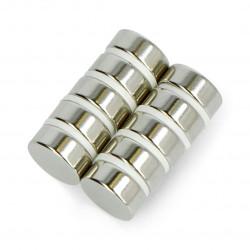 Magnes neodymowy okrągły N35/Ni - 10x4mm