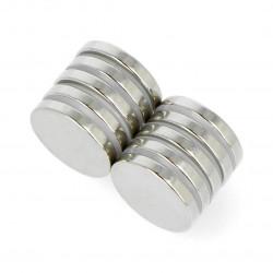 Round neodymium magnets N35/Ni 20x3mm - 10 pcs.