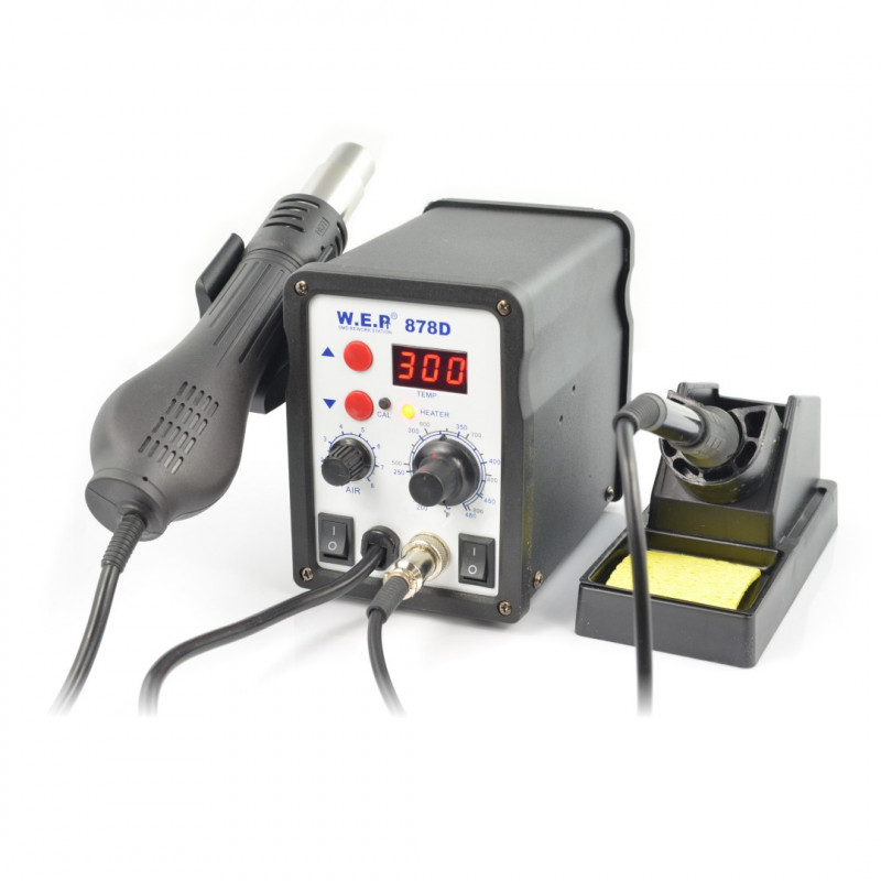 Soldering station 2in1 hotair and tip-based WEP 878D - 700W_