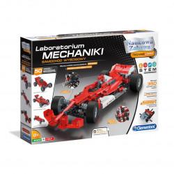 Zestaw konstrukcyjny Laboratorium Mechaniki - Samochód Wyścigowy - Clementoni 50520