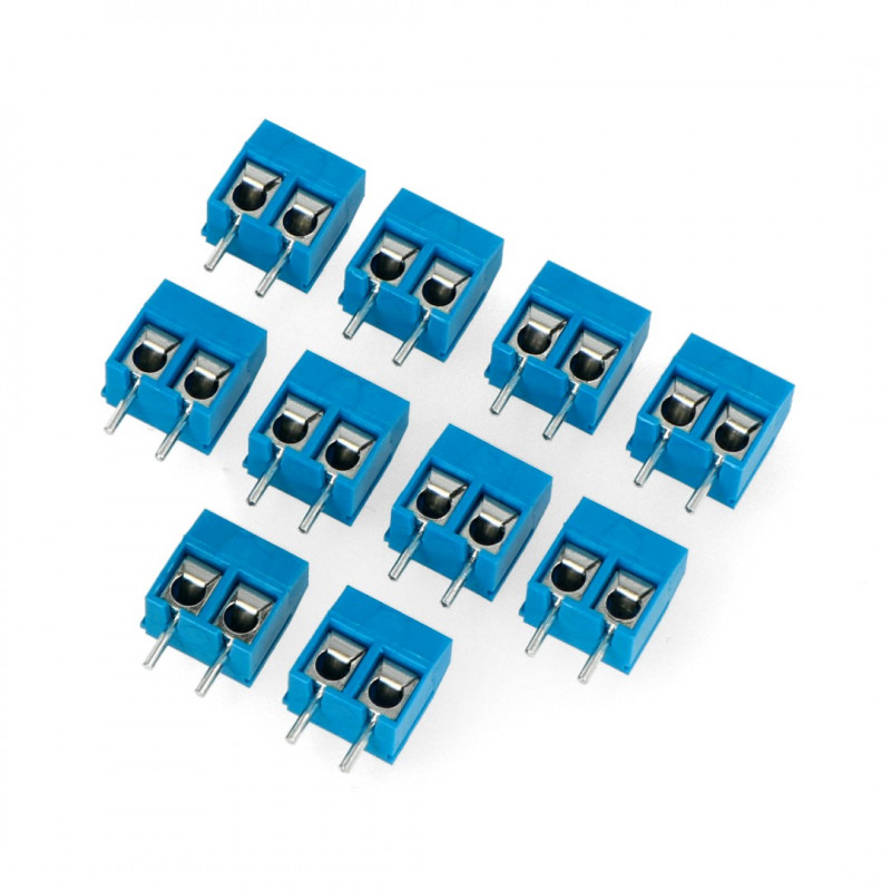 ARK connector KF301 raster 5.0mm 2 pin (-)* - 10pcs