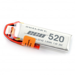 Pakiet LiPol Dualsky 520mAh 20C 2S 7.4V